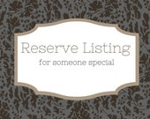 Reserve Listing for Judy