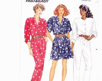 Butterick 3508 Misses Romper and Jumpsuit Pants or Shorts Size 8-10-12 Uncut Vintage Pattern FF