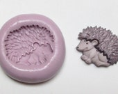 Hedgehog Mold #582- silicone mold for crafts, jewelry, resin, porcelain, clay, candies, baking, plastic, metal and more