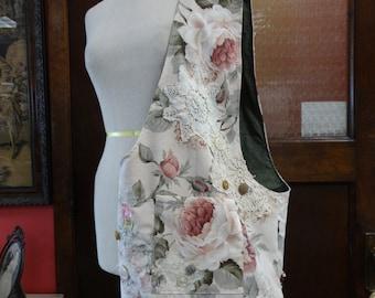Hobo Bag,Shopping Bag,Cotton Bag,Upholstery Bag,Fashion Bag,Eco Bag,Bohemian Bag,Shabby Chic Bag,by Nine Muses Of Crete