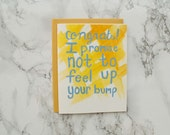 Funny Baby Shower Card, New Mom Card, New Baby Congratulations Card. Baby Girl Card. Baby Boy. Gender Neutral.
