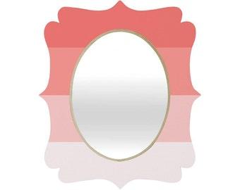girl room decor pink wall mirror | etsy