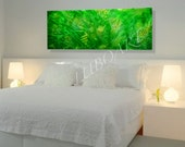 METAL art wild country flower green Long Large abstract contemporary 3D Video wall decor Original modern sculpture painting hand made - Lubo