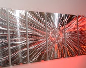 """Abstract Metal Modern Wall Art 66"""" Long Sculpture home boardroom office living home new Decor 3D Video LED RGB Halogen light reflect by Lubo"""
