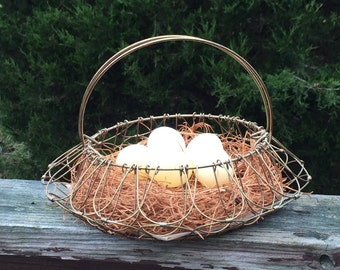 Wire Egg Basket Easter Basket Farmhouse Basket Country Kitchen