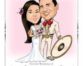 Wedding illustration 11 x 14