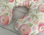 Design Your Own -Watercolor Floral in Pink, Peach, Yellow, Orange and Green changing pad cover, rail covers, boppy covers, crib sheet, skirt