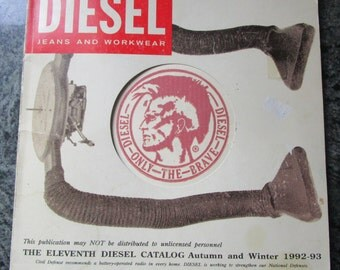 Vintage Diesel Catalog Autumn and Winter 1992 to 1993 The 11th Catalogue Published in Italy Rare Find