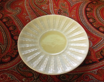 Belleek Neptune Pattern Saucer Yellow   7th Mfr's Mark  Excellent condition