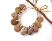 Reserved for Sue : Natural Rock Beads Small Mediterranean Beach Stone DIY Jewelry Making Beads River Stone Beads GEO MIX 16-17 mm