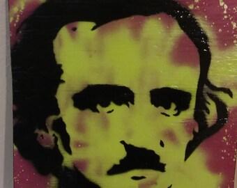 Edgar Allen Poe (wood green)