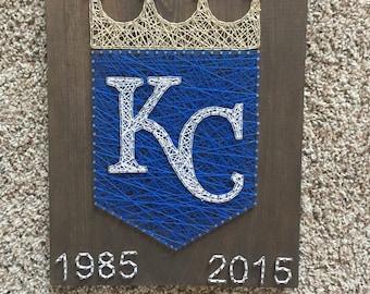 Made to order Kansas City royals  string art
