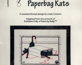 Calico Crossroads: Paperbag Kats (OOP) - a Kats by Kelly Cross Stitch Kit