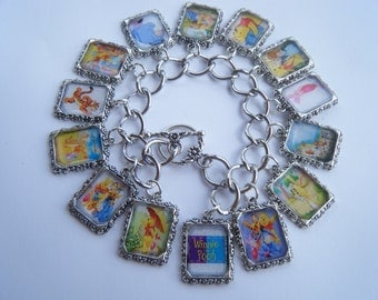 Winnie The Pooh Bracelet Altered Art Handmade when you order