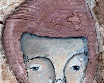 "Inner Trust, an original 4x6"" Nixie painting"