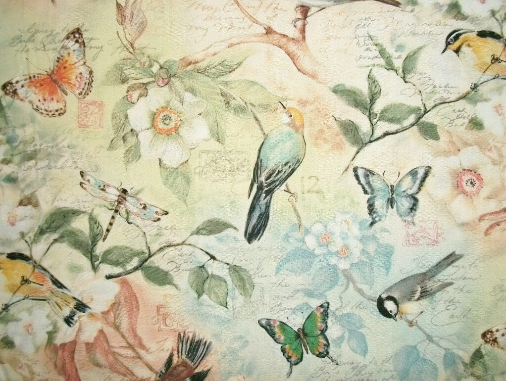 Bird Fabric Susan Winget By The Yard Quilting Sewing Birds Of