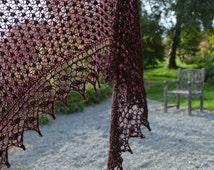 Blackberry Lace Stitch Shawl Knitting Pattern pdf