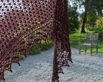 Blackberry Lace Stitch Shawl Knitting Pattern pdf