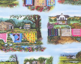 Quilts Fabric, Country Quilts, Amish Quilts, Country Scenes, Elizabeths Studio, By the Yard