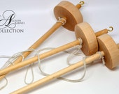 Beginner Drop Spindle Set Lightweight Spindle and Wool