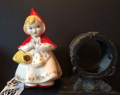 1940s Hull Original Little Red Riding Hood Cookie Jar