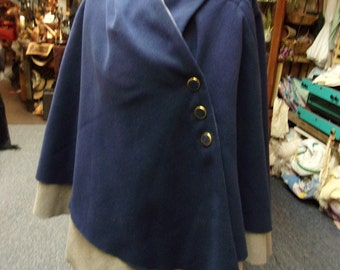 Blue And Grey Vintage Cape