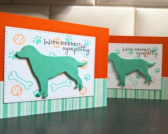 Dog Sympathy Card, Pet Sympathy Card, Dog Loss Card, Animal Loss Greeting Card