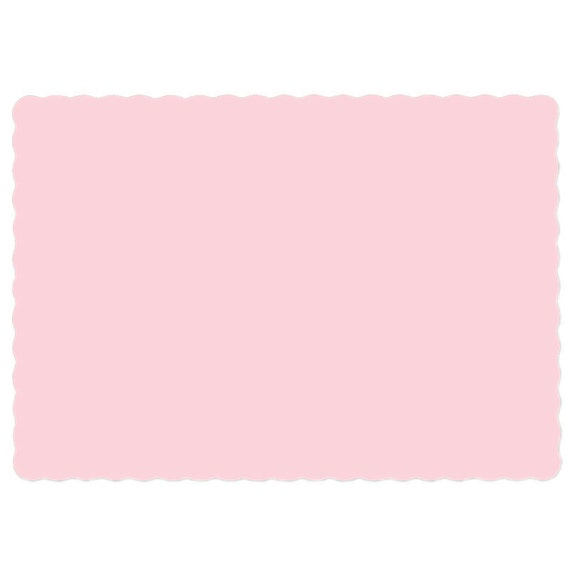 25pink paper placemats in quantities of for Table mats design your own