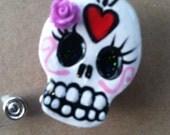 Sugar Skull Badge Reel