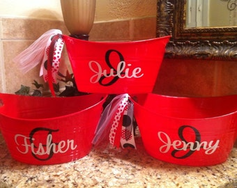 Personalized Bucket - Party Favor - Gift Giving - Hostess gift - Shower Gift
