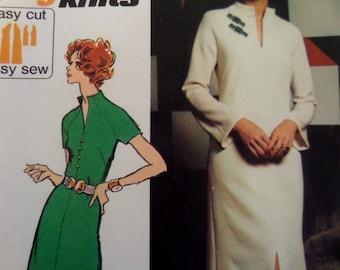 ORIENTAL FLAIR DRESS Pattern • Simplicity 5320 • Miss 16 • Knit Maxi Dress • Split Hem • Sewing Pattern • Vintage Patterns • WhiletheCatNaps