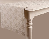 Jacquard linen table runner Rustic look Classic table linens