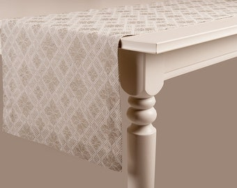 Jacquard linen table runner Rustic look table runners