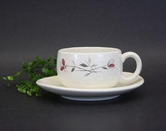"Vintage Franciscan ""Duet"" Cup & Saucer Set  (E1331)"