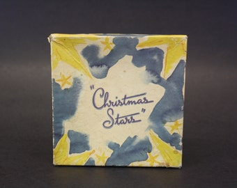 Vintage 1940s 'Christmas Stars' Greeting Cards in Original Box (E7552)