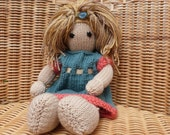 This doll is a private listing and RESERVED FOR ANGELINA Fair Hair Doll  Handmade Doll Hand Knitted Doll. Soft Merino Wool Doll.