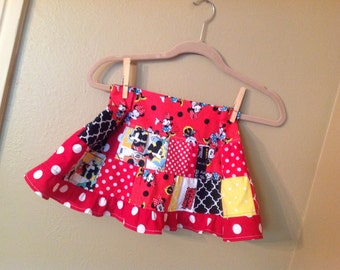 Disney theme skirt 3t, 4t  Maybe 5t Mickey Mouse Themed twirl skirt  -  ready to ship - Minnie