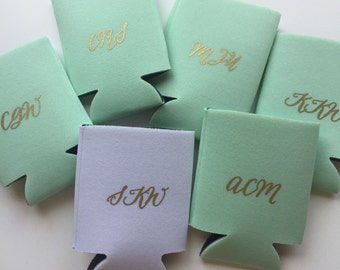 Monogram, Bachelorette, Wedding Can Cooler