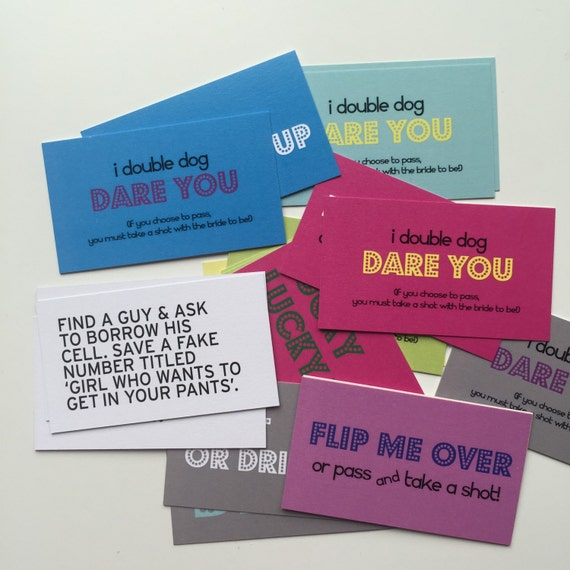 25 Dare Cards - Bachelorette Party Pack v.1