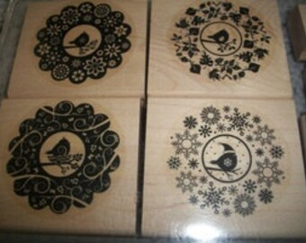 Four Seasons Rubber Stamp Set