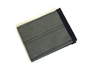 Slim Wallet in Gray Cordura Nylon - Vegan Wallet