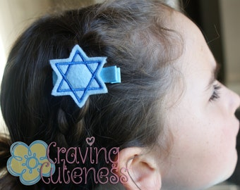 Star of David Hair Clip - Meet Miss Star - Perfect Hanukkah Accessory