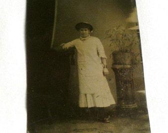 Old Antique Tin Type Photo