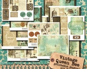 HALF PRICE Vintage Queen Bee 5x7 Printable Journal Kit