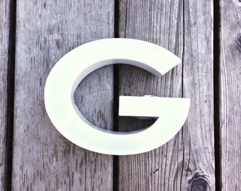G - Vintage Metal Letter - 5.5 inch - reclaimed condition