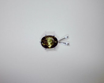 Oval Moldavite pendant