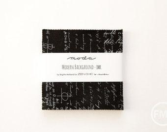 Modern Background Ink Charm Pack, Brigitte Heitland, Zen Chic, Moda Fabrics, Pre-Cut Five Inch Fabric Squares, 1581PP