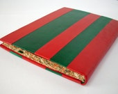 Red and  green leather book