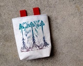 ARROWS.multi..handcarved, blockprinted, rock climbing chalk bag..1-3day order