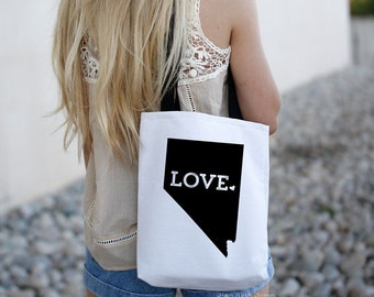 Nevada State Tote Bag // Travel Gift // College University Student Gift Idea // Free US shipping